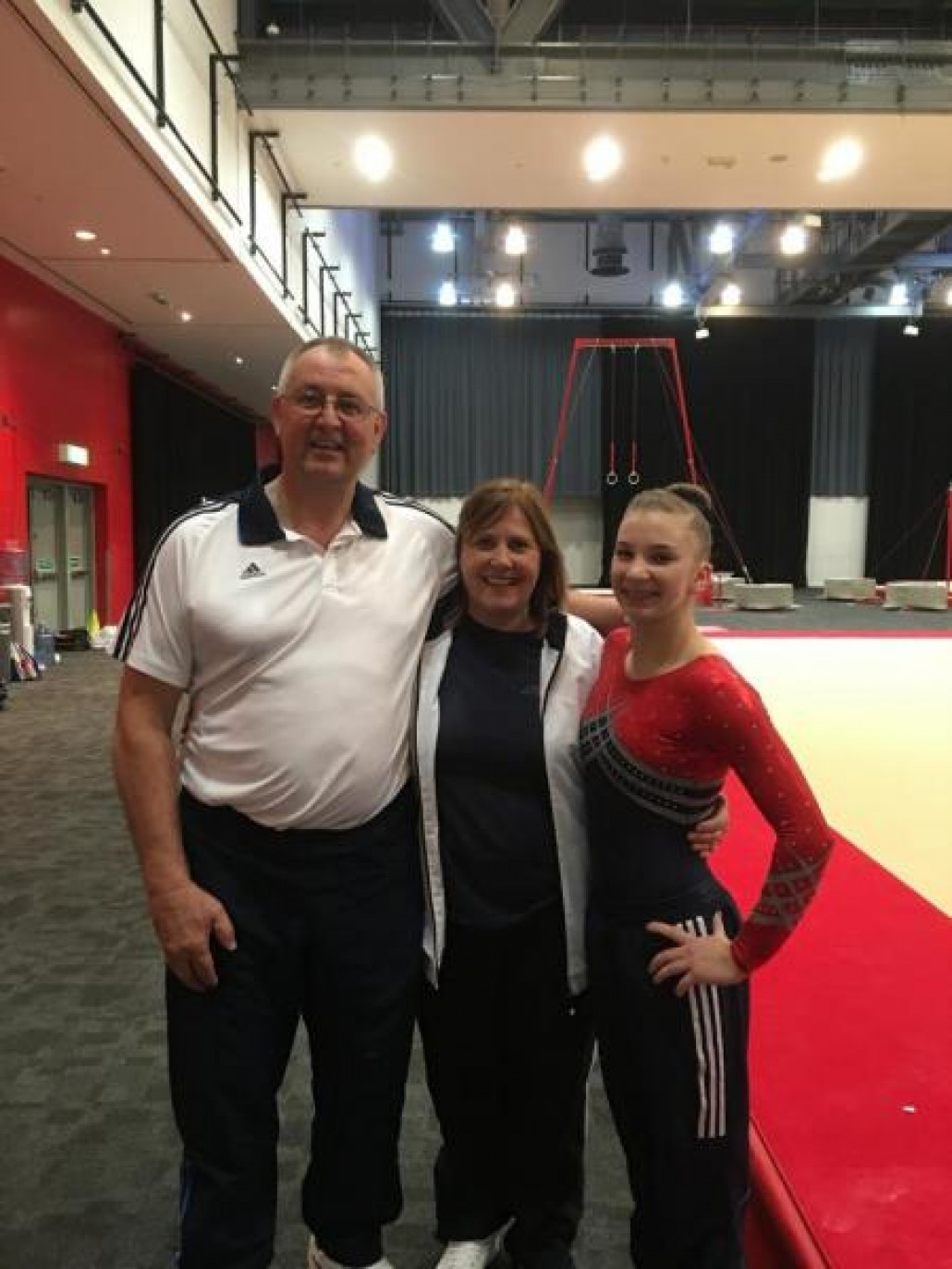 Kelly with Coaches, Keith and Debbie Richardson