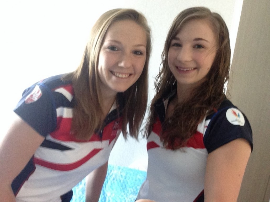 Kelly and Evie Collier (Roomate, GBR Table Tennis Athlete)