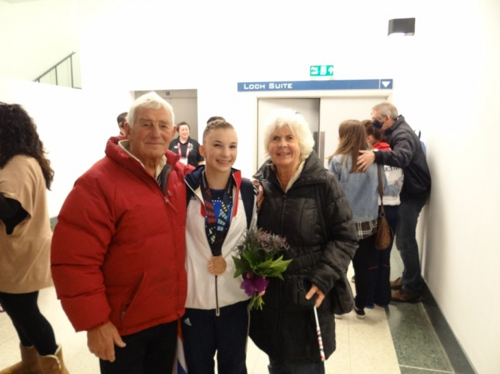 Kelly with Grandparents after Team Bronze